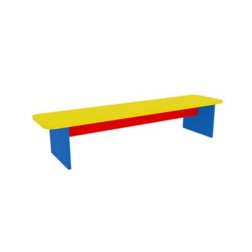 Скамейка для 4х секционного шкафа Цветная