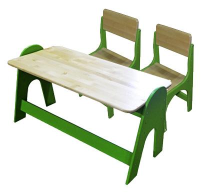 Детский регулируемый сто и стулья