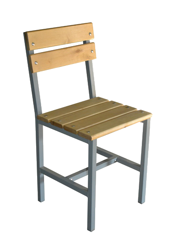Армейский стул жесткий на металлокаркасе