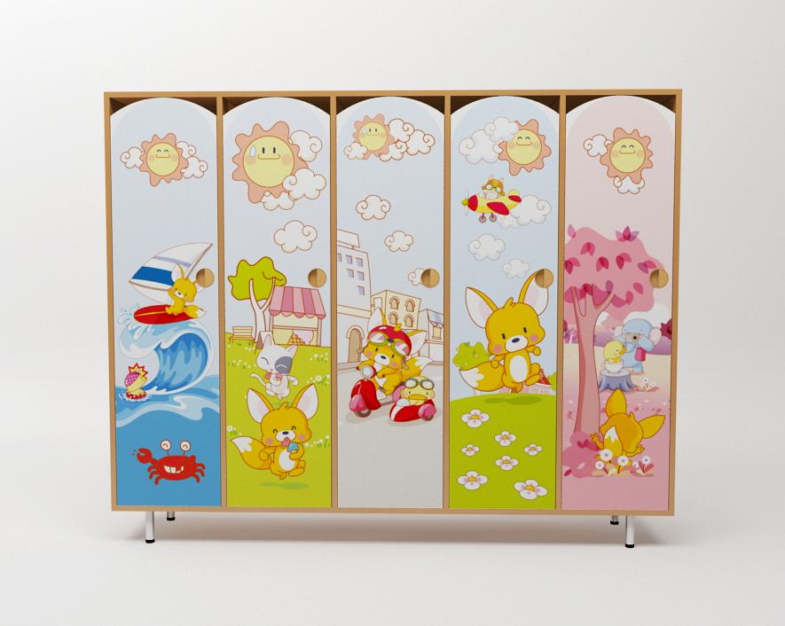 Шкафчики для детского сада с УФ печатью