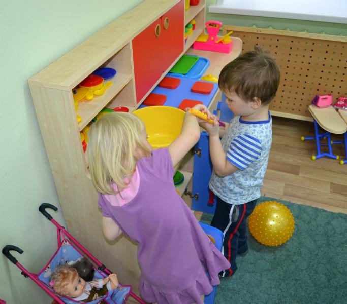 Игровая мебель для детского сад, Уголок игровой Кухня
