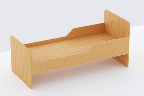 Одноярусная кровать из ЛДСП