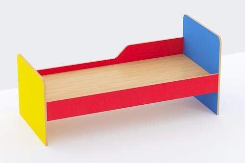 Кровать 1-ярусная с бортом безопасности (ЛДСП)