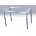 Каркас стола обеденной группы 4-местной с подвесами для скамеек гр. 6 м/к серый Ral 7001