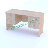 Стол двухтумбовый (2 ящика)