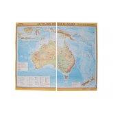Учебная карта Австралия и Новая Зеландия