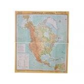 Учебная карта Северная Америка (физическая)