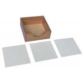Ящик для бумаги 14*14 см, пластиковые дощечки - 3 шт.
