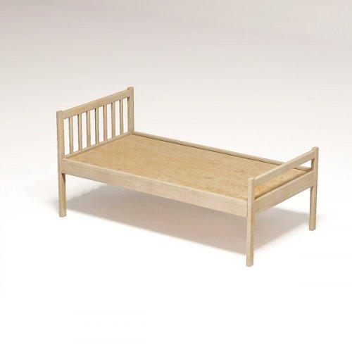 Кровать детская «Соня» 1200*600*600 (массив. лак) настил ДВП