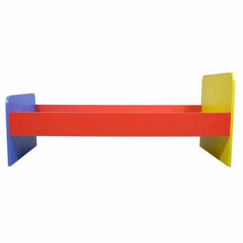 Кровать детская 1-но ярусная (цветная) 1400*600*600 настил фанера