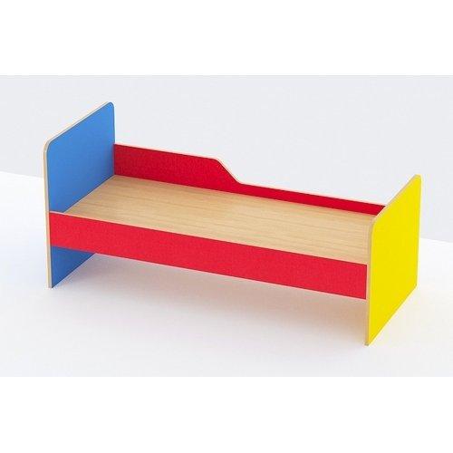 Кровать детская 1-но ярусная с одним бортом (Цветная) 1200*600*600 настил Фанера
