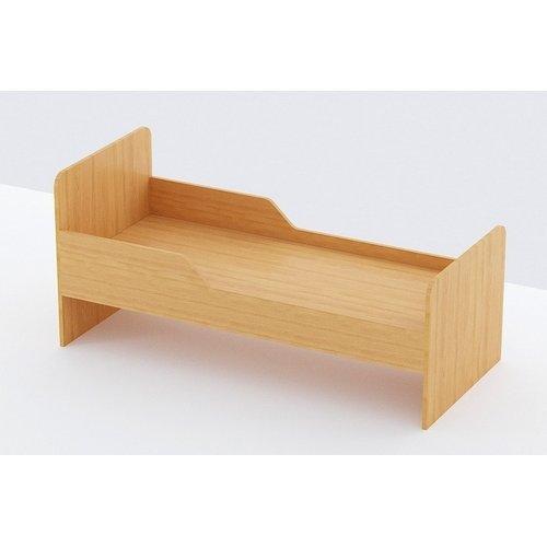 Кровать детская 1-но ярусная с двумя бортами (Бук Бавария Светлый) 1200*600*600 настил ДВП