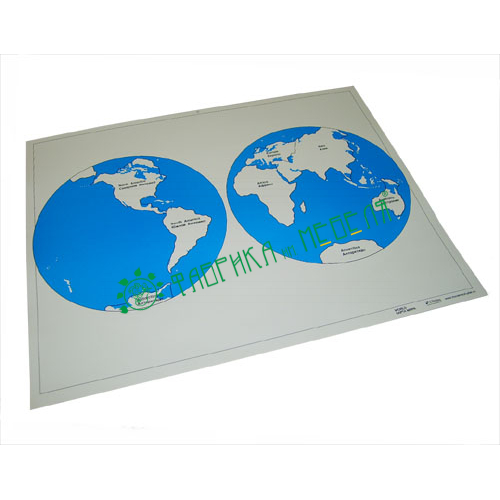 Карта континентов  (контурная)