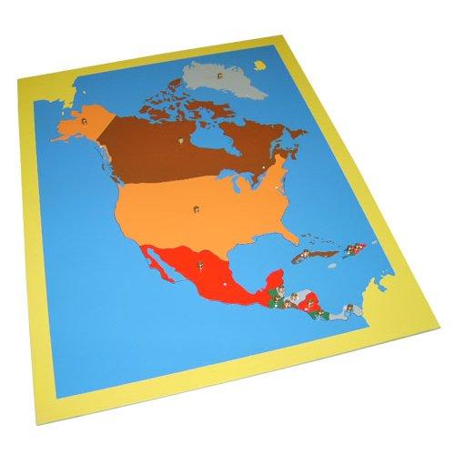 Карта Северной Америки (пазлы)