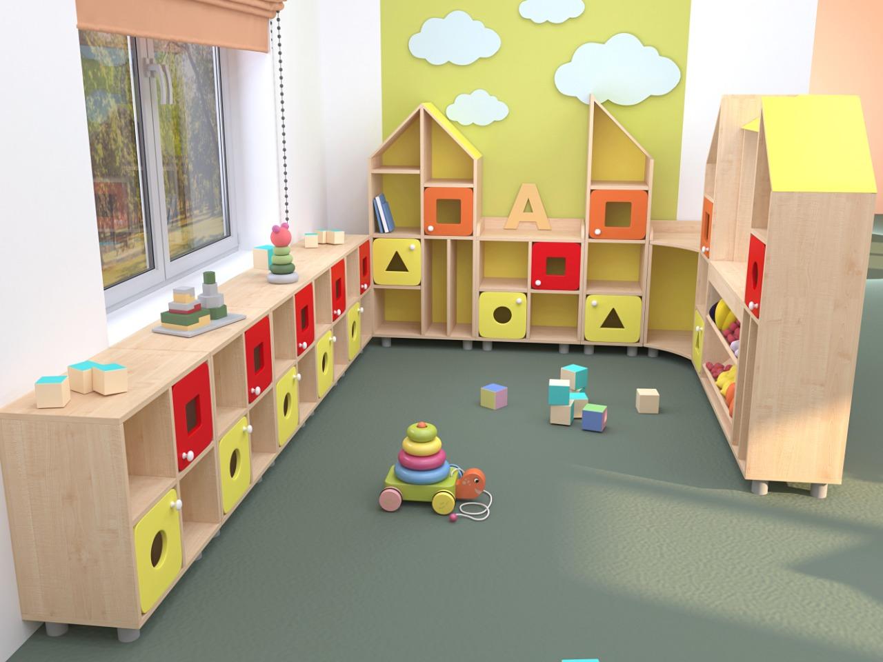 мебель для детского сада в одном стиле