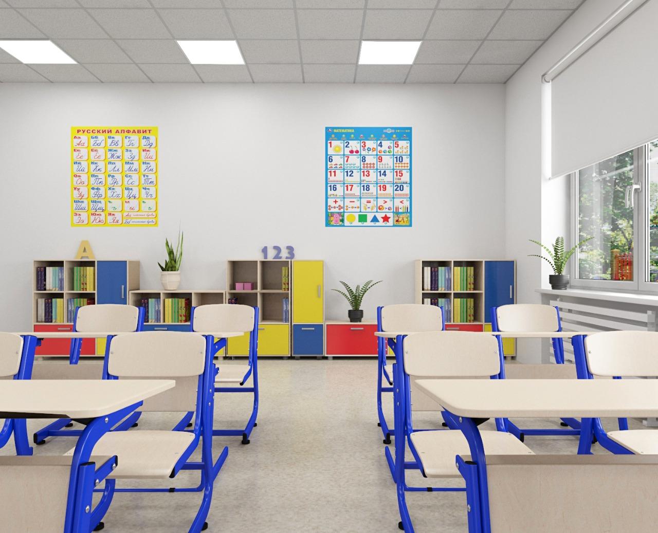 стильная мебель для школы атлант